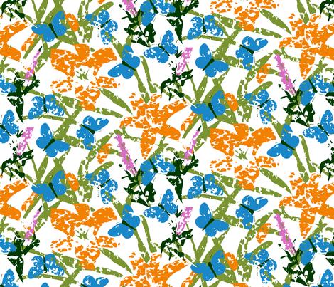 Karner Blue Butterfly Garden fabric by fussypants on Spoonflower - custom fabric
