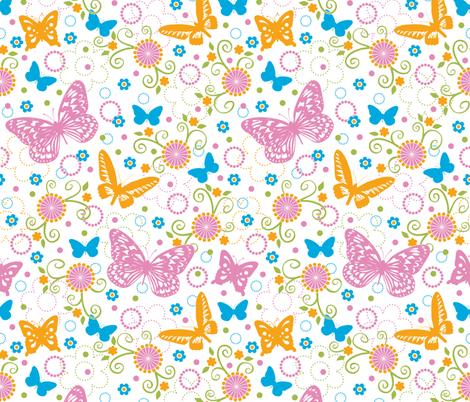 Butterflies fabric by jennartdesigns on Spoonflower - custom fabric
