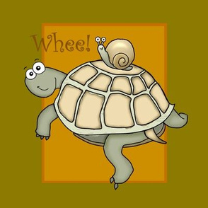 Cartoon turtle and snail