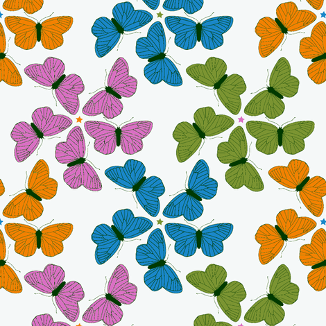 Lepidoptera fabric by jenimp on Spoonflower - custom fabric
