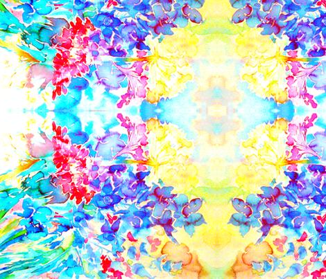 Marias Garden Flowers Crepe de Chine fabric by miss_blümchen on Spoonflower - custom fabric