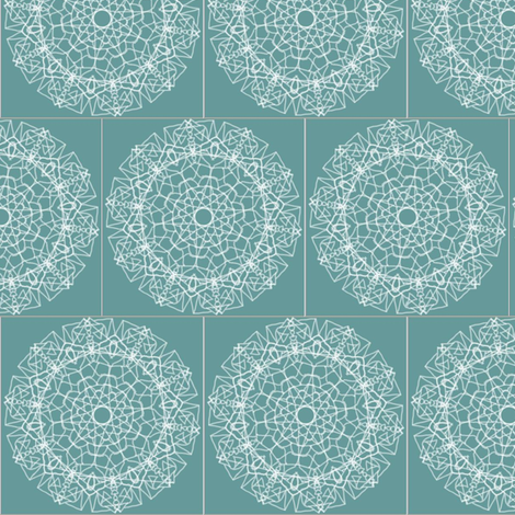delicate lace on blue fabric by jkayep2 on Spoonflower - custom fabric