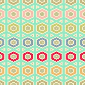 Nursery Hexagon geo