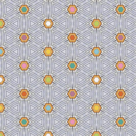Block-Point Hexagons fabric by siya on Spoonflower - custom fabric