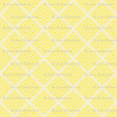 Lattice blue and yellow collection