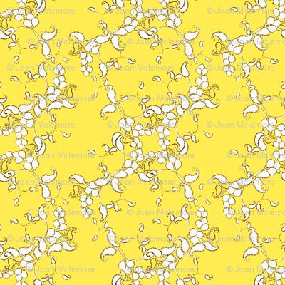Paisley yellow and white