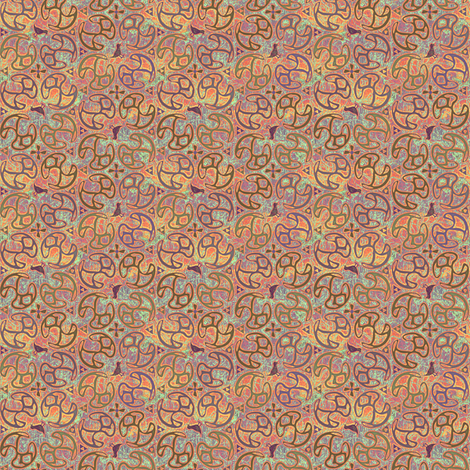 ©2011 Micro20 Bird Motif - Desert fabric by glimmericks on Spoonflower - custom fabric