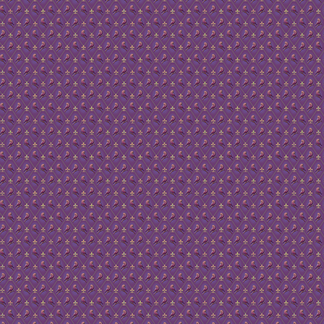 ©2011 Micro20 Purple Finch and Fleur de Lis fabric by glimmericks on Spoonflower - custom fabric
