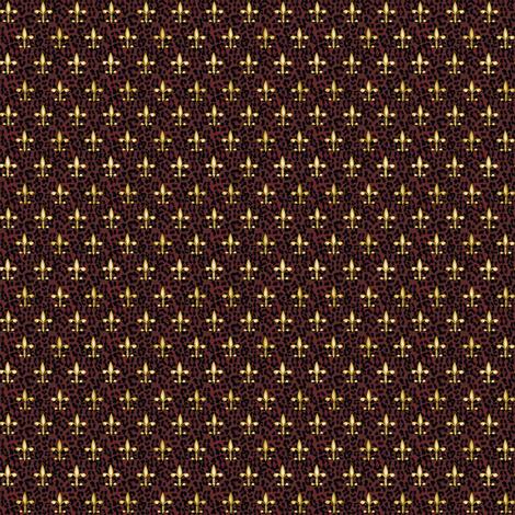 ©2011 Micro20 Royal Red Leopard w Fleur de Lis fabric by glimmericks on Spoonflower - custom fabric