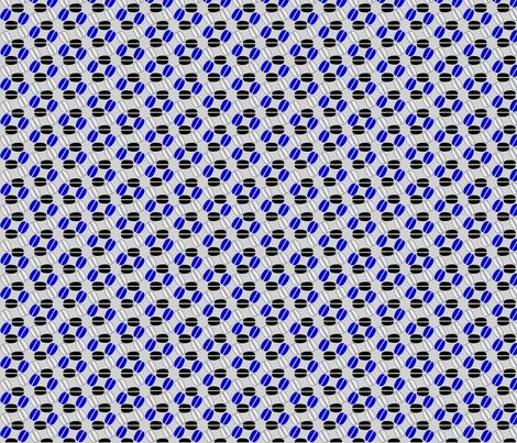 ©2011 Coffeespin Grey Blue Black White fabric by glimmericks on Spoonflower - custom fabric