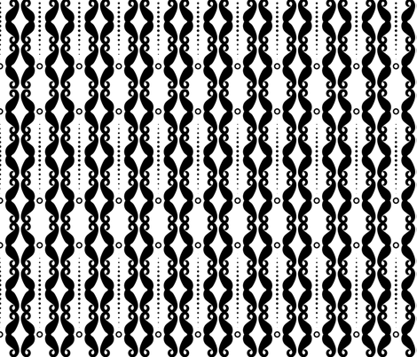Mustache Stripes  fabric by newmomdesigns on Spoonflower - custom fabric