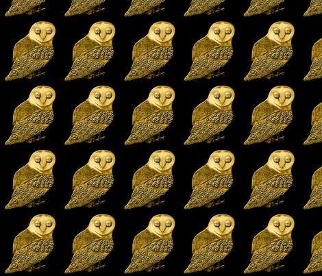 Robo Owl fabric by nezumiworld on Spoonflower - custom fabric