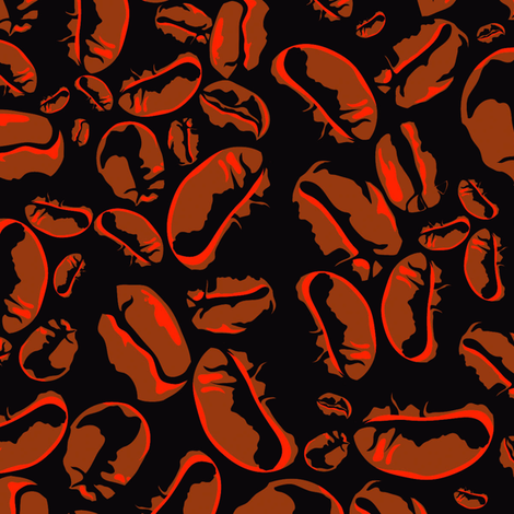 cool_beans fabric by rockpaperfabric_design on Spoonflower - custom fabric