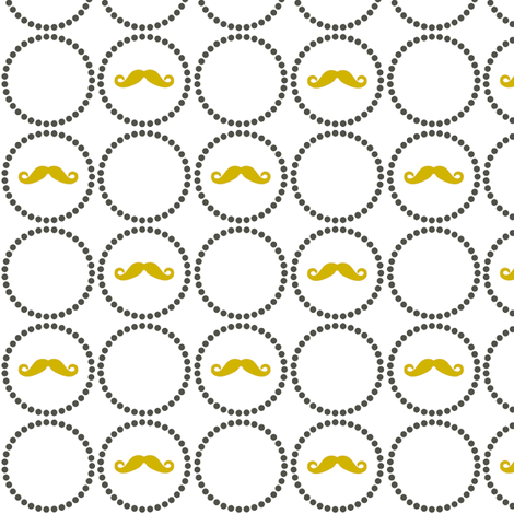 Mustache Playful- small fabric by newmomdesigns on Spoonflower - custom fabric
