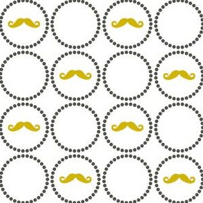 Mustache Playful- small