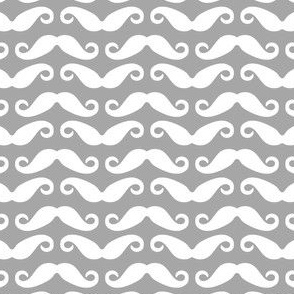 Mustache all over- Grey