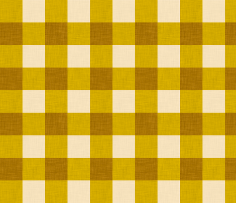 gingham mustard fabric by holli_zollinger on Spoonflower - custom fabric