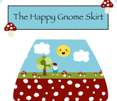 The Happy Gnome Toddler Skirt- with Gnome Plush