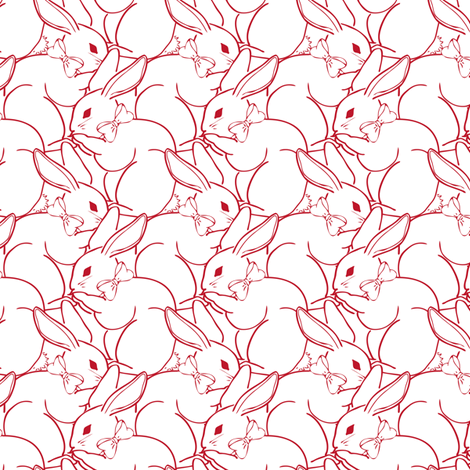billions-of-bunnies-smaller fabric by jmckinniss on Spoonflower - custom fabric