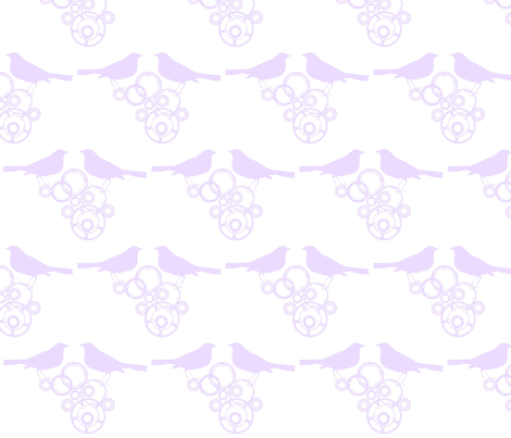 Gears & Robins fabric by monkeyplum on Spoonflower - custom fabric