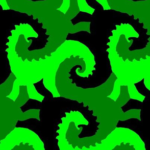 Green Dinosaur Tessellation