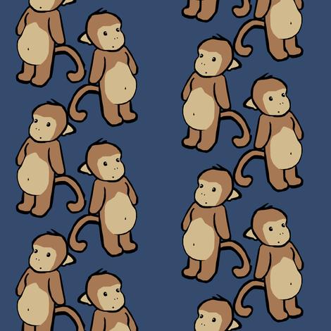 Plain-Belly Monkeys fabric by pond_ripple on Spoonflower - custom fabric