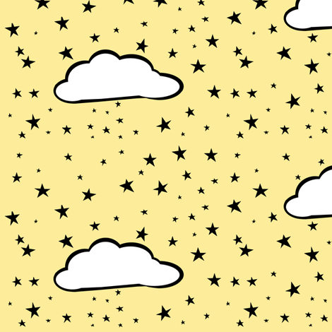 Wolf Stars fabric by pond_ripple on Spoonflower - custom fabric