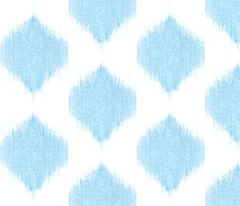 "IKAT TEARDROPS in ""OCEAN"" fabric by trcreative on Spoonflower - custom fabric"