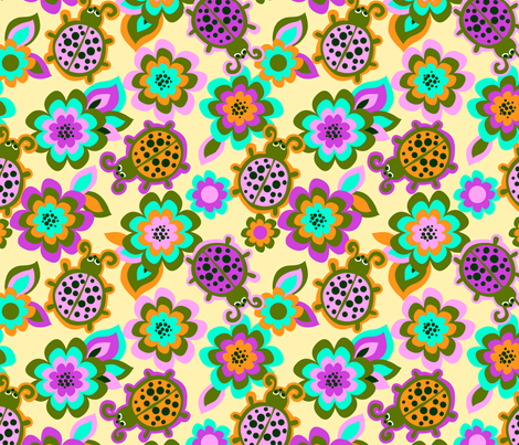 Funky Lady fabric by collectivesurfacellc on Spoonflower - custom fabric