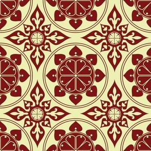 Old World Kaleidoscope in Crimson by Bobbin4apples