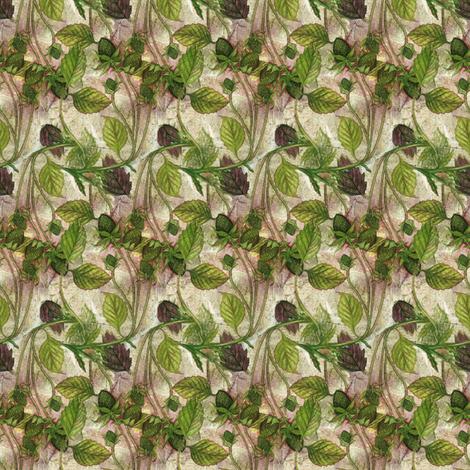 Wild Green Strawberries fabric by helenklebesadel on Spoonflower - custom fabric