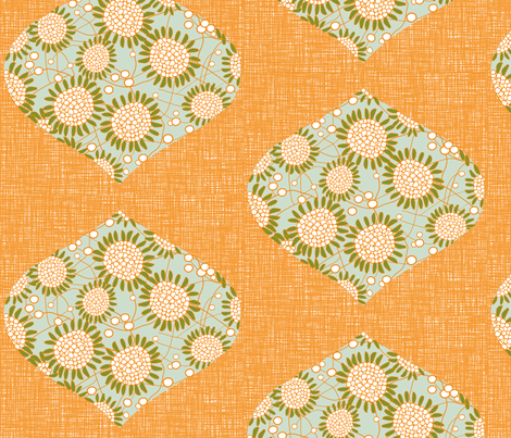 MIA in ORANGE fabric by trcreative on Spoonflower - custom fabric