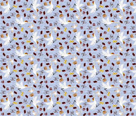 ©2011 Geriatric Father fabric by glimmericks on Spoonflower - custom fabric