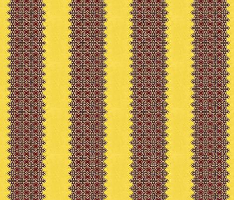 1950_vintage_yellow__red_and_black_dress_fabric__stripe fabric by vinkeli on Spoonflower - custom fabric