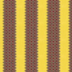 1950_vintage_yellow__red_and_black_dress_fabric__stripe
