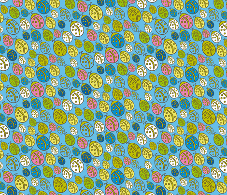 Lady Bird SMALL scale fabric by zoebrench on Spoonflower - custom fabric