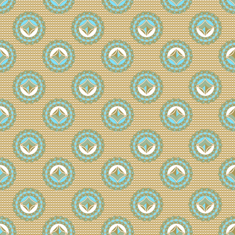 Admiral Medallions Blue fabric by joanmclemore on Spoonflower - custom fabric