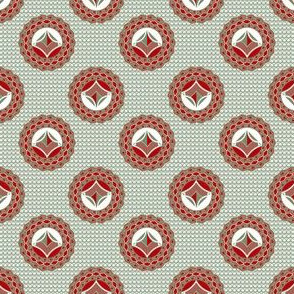 Admiral Medallions Gray and Red