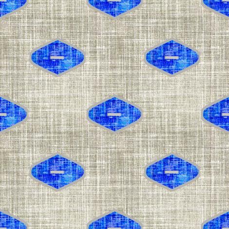 Grey linen Ogee in Cobalt fabric by joanmclemore on Spoonflower - custom fabric