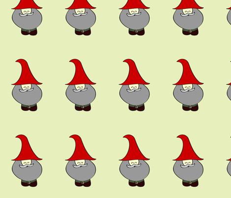 Happy Gnome Green fabric by meem710 on Spoonflower - custom fabric