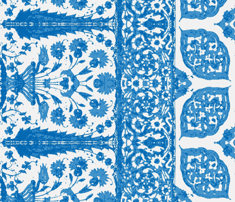 bosporus_tiles blue-white-silk crepe de chine fabric by miss_blümchen on Spoonflower - custom fabric