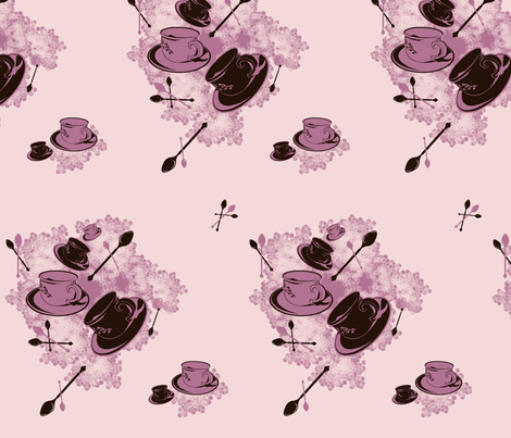 PinkCoffee fabric by danielapuliti on Spoonflower - custom fabric