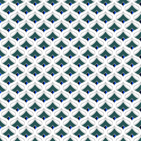Admiral Blue  fabric by joanmclemore on Spoonflower - custom fabric