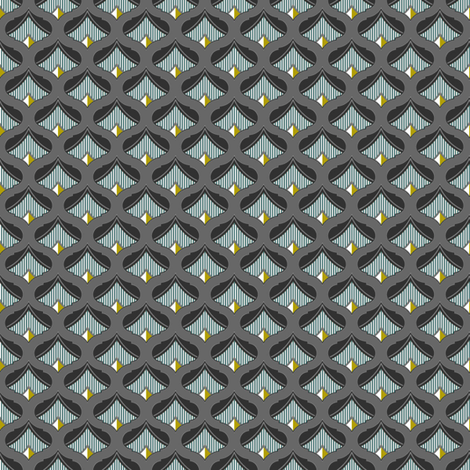 Admiral Gold Point fabric by joanmclemore on Spoonflower - custom fabric