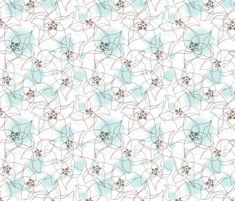 Fragile flowers fabric by martinaness on Spoonflower - custom fabric