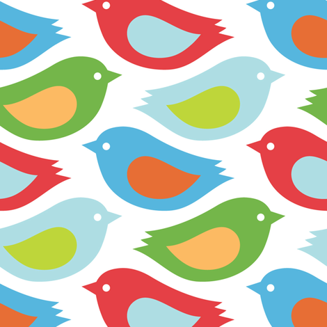Bold birds fabric by martinaness on Spoonflower - custom fabric