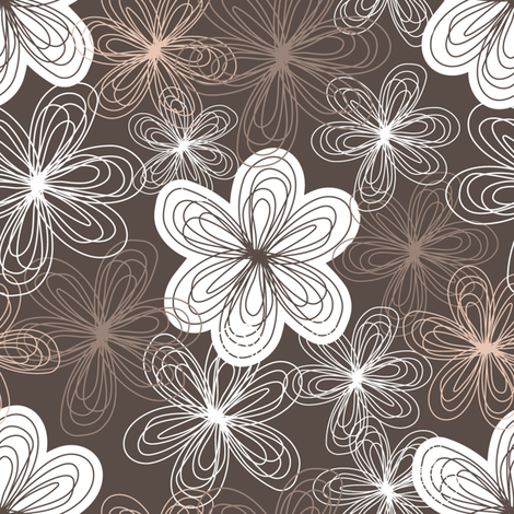 Freehand flowers fabric by martinaness on Spoonflower - custom fabric