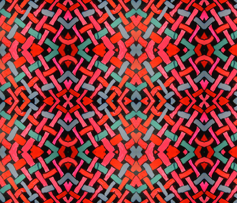Textile Design Woven Pinks fabric by blondie123 on Spoonflower - custom fabric