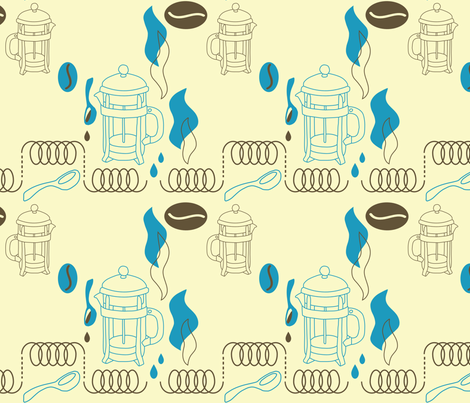 frenchie_press fabric by kateg on Spoonflower - custom fabric