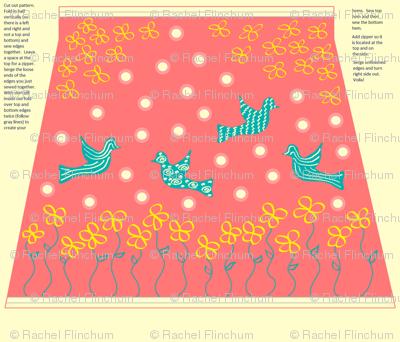 Coral Humming Bird Skirt Pattern w/ Instructions